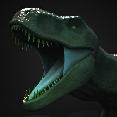 3d t-rex t rex model