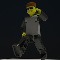 lego technic figure 3d model