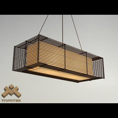 kai rectangular hanging lamp 3d model