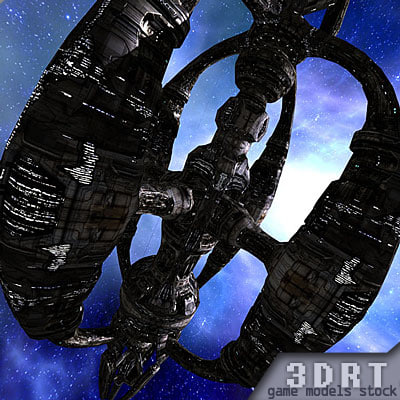 sci-fi norad space station 3d max