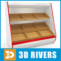 3d inclined shelving model