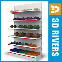 Tableware display shelf by 3DRivers