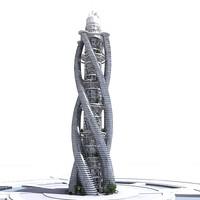 3ds max futuristic skyscraper