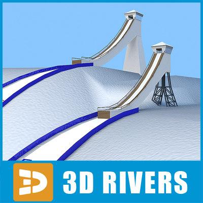 3d model ski ramp