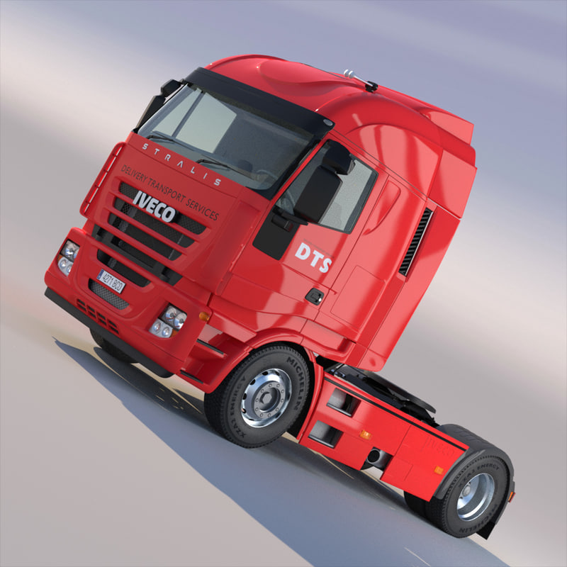 3d model new iveco stralis