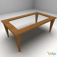 free table magazine 3d model