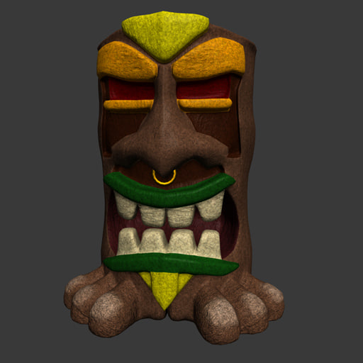 3d model of tiki god