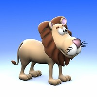 cartoon lion ! 3d 3ds