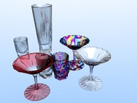 Collection of glass and ice cream cups