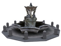 3d vatican buildings fountain pack model