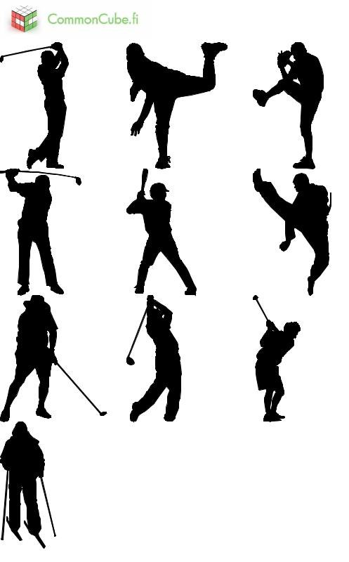 sports silhouettes 3ds