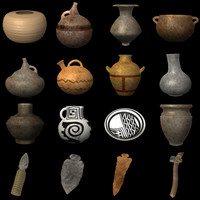 3d prehistoric objects