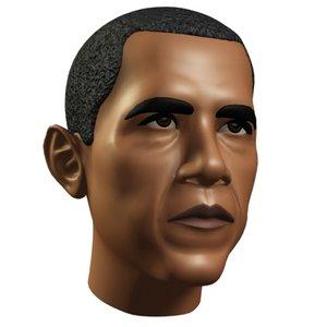 obama head 3d model
