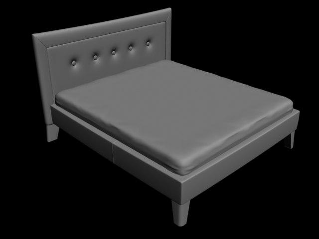 kingsize bed 3d model