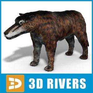 3ds max andrewsarchus animal prehistoric