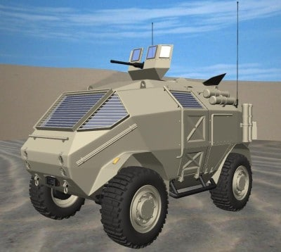 3d army transporter concept model