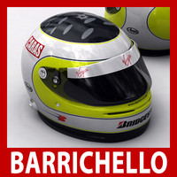 3d model rubens barrichello f1 helmet
