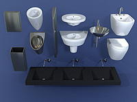 3d model bathroom equipment