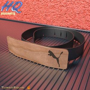 free belt 00 3d model