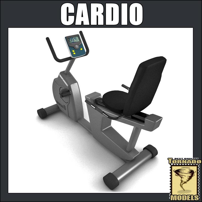 cardio bike 3d model