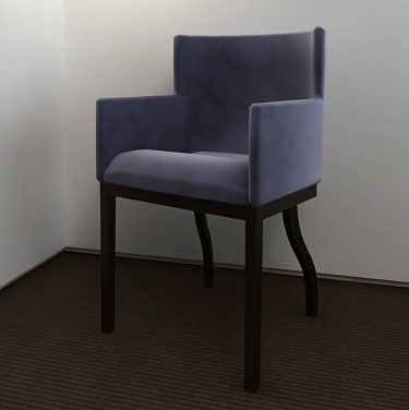 3d model chair upholstered