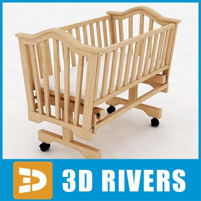 3d baby cradle