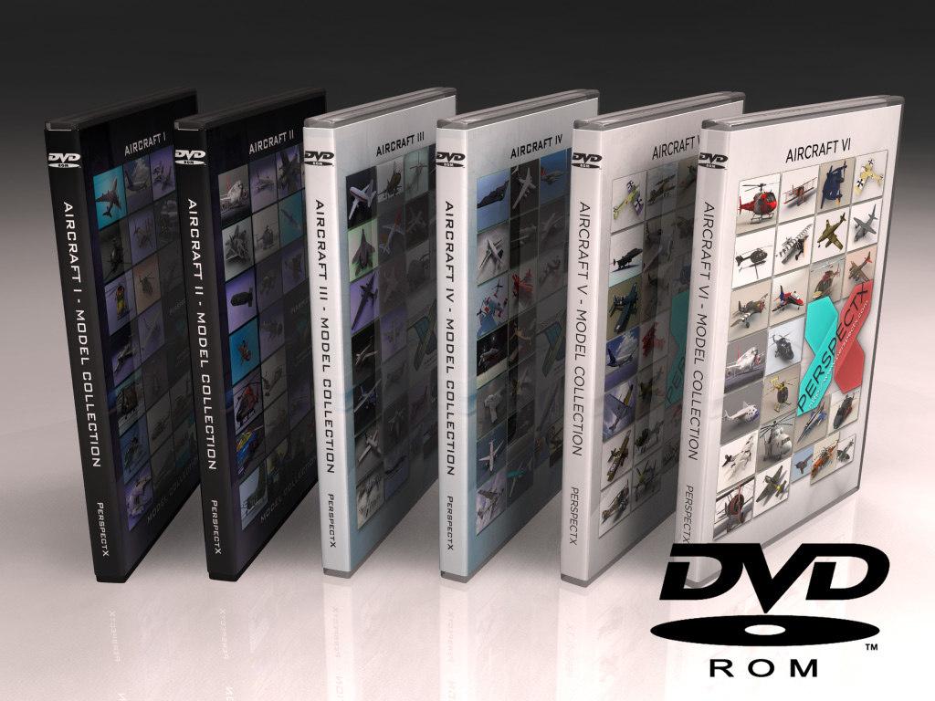 aircraft dvd 3d model