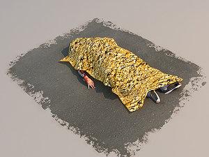 dead games simulation 3d model