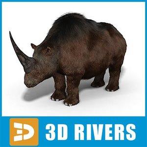elasmotherium prehistoric extinct 3d max
