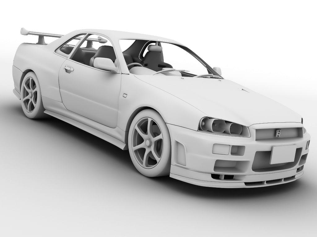 3d Nissan Skyline Gt R R34 Model
