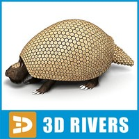 extinct glyptodon 3d model