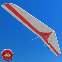 hang glider 3d obj