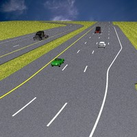 3d model basic highway set road