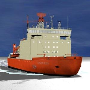 3d model argentine icebreaker irizar