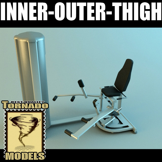 inner outer thigh machine 3d max