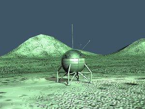 3d model of space lander andromeda cob
