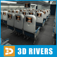 Economy class interior middle poly by 3DRivers