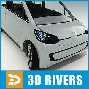 car concept doors grey 3d model