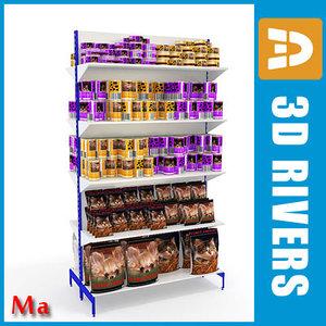 3d model shelves 01 v1