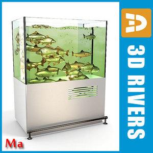 3d aquarium shopping v1 01 model