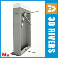 turnstile protection entrance 3d x