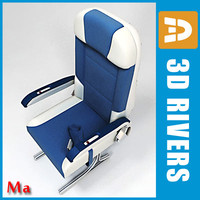 Economy class seats v1 by 3DRivers