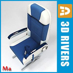 3d airplane economy class seats