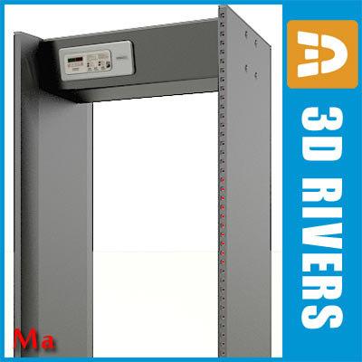 airport metal detector 3d ma