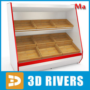 inclined shelving v1 04 3d model