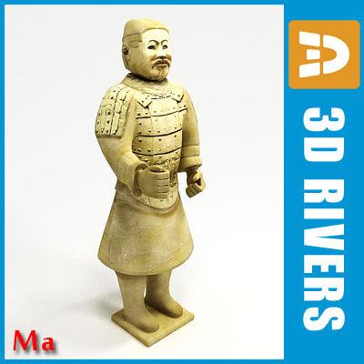 statue standing di 3d x