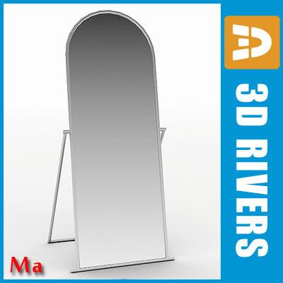 maya floor mirror clothes shops interior