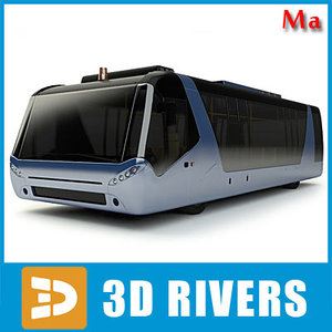 airport bus vehicles 02 3d ma