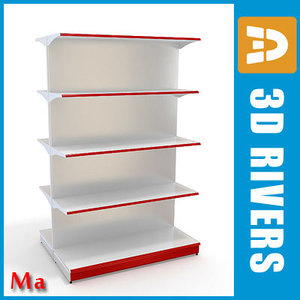 double-sided shelving v1 02 3d 3ds