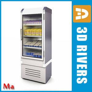 3d refrigerating milk freezer v1 model